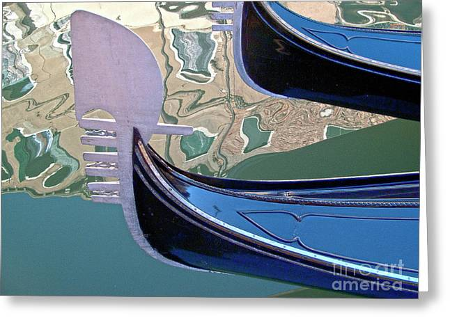 Venice Gondolas Greeting Card by Heiko Koehrer-Wagner
