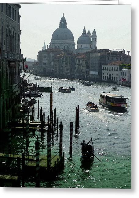 Venice Grand Canale Italy Summer Greeting Card by Irina Sztukowski