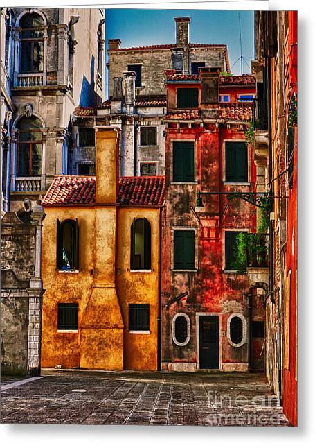 Venice Homes Greeting Card by Jerry Fornarotto