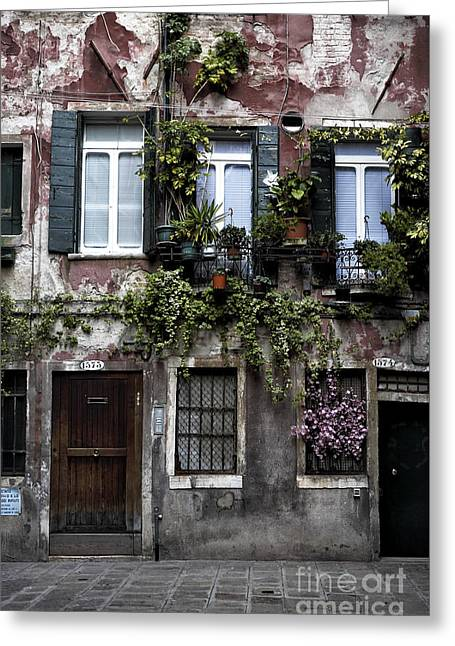 Venice House I Greeting Card by John Rizzuto