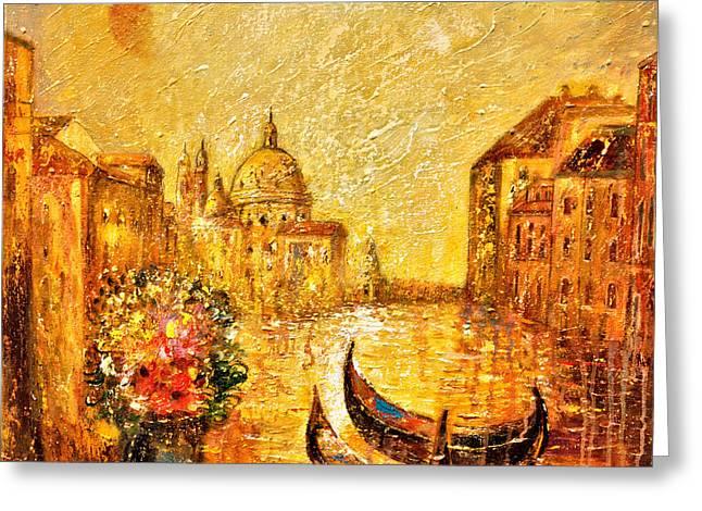 Venice II Greeting Card by Shijun Munns