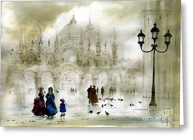 Venice IIi Greeting Card by Svetlana and Sabir Gadghievs