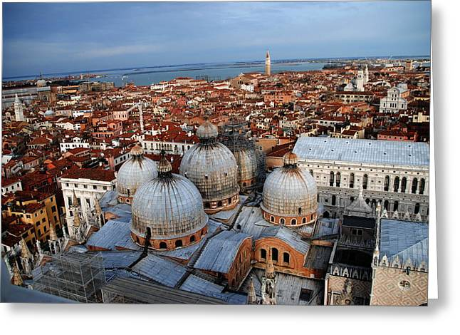 Venice In Glory Greeting Card by Jacqueline M Lewis
