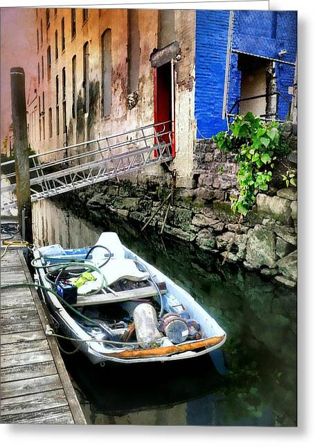 Venice In New York Greeting Card by Diana Angstadt