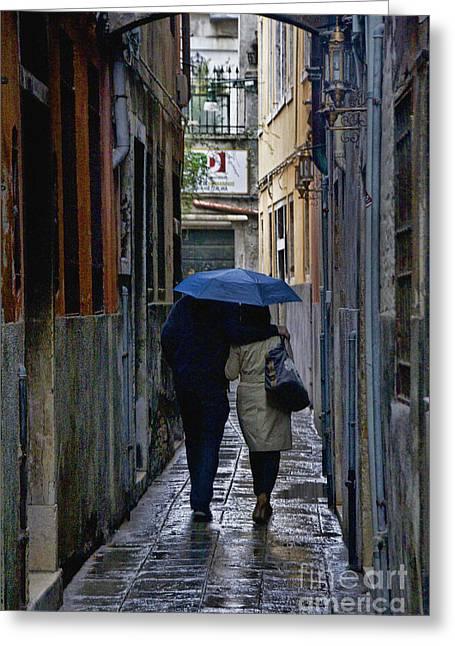 Venice In The Rain Greeting Card