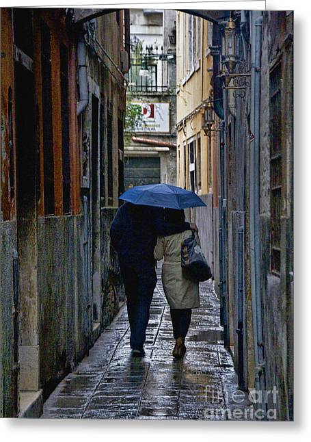 Venice In The Rain Greeting Card