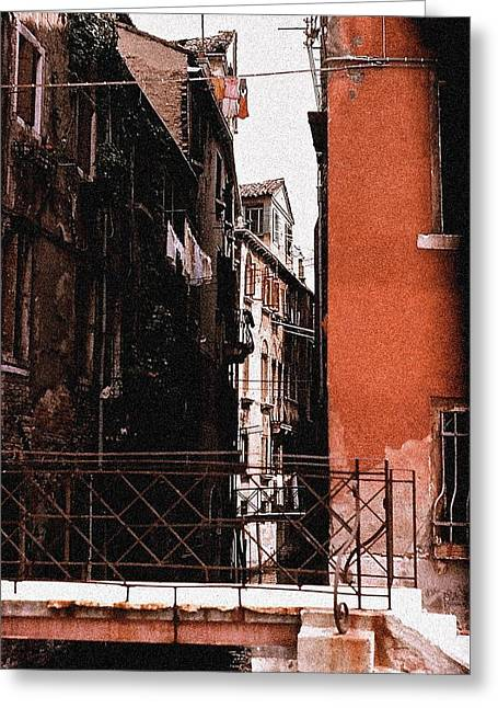 Greeting Card featuring the photograph A Chapter In Venice by Ira Shander