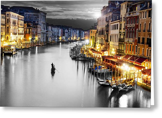 Venice Italy Greeting Card by Brian Reaves