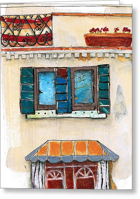 Venice Italy Building Greeting Card by Robin Luther