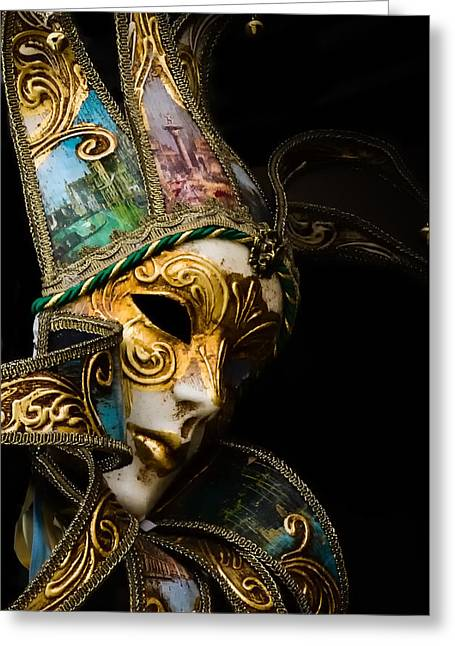 Venice Italy - Carnival Mask Greeting Card