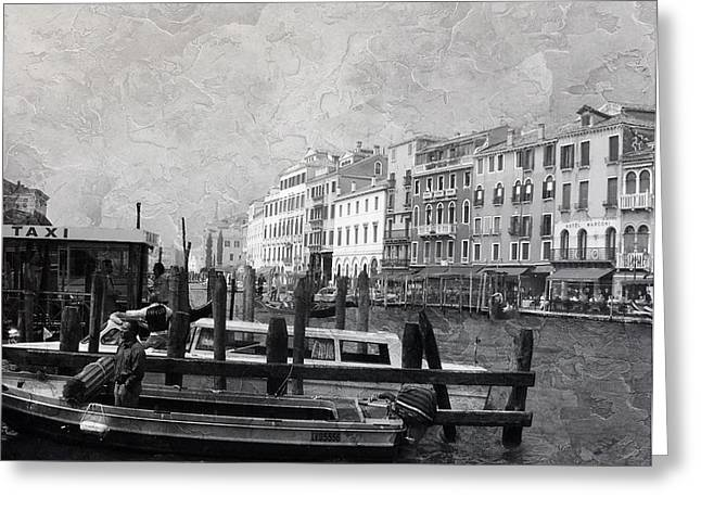 Venice Italy Cool Breeze Greeting Card by Brian Reaves