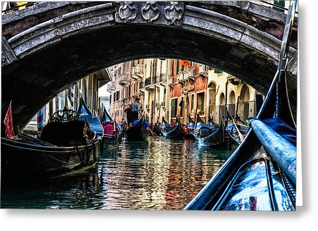 Venice Italy Gondola - Ride Through Canal Greeting Card