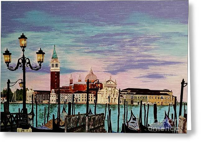 Venice  Italy By Jasna Gopic Greeting Card by Jasna Gopic