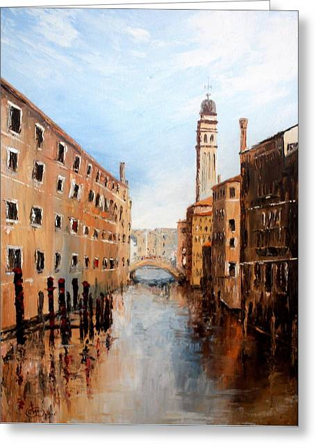 Greeting Card featuring the painting Venice Italy by Jean Walker