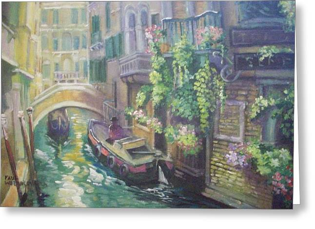 Venice -italy Greeting Card by Paul Weerasekera