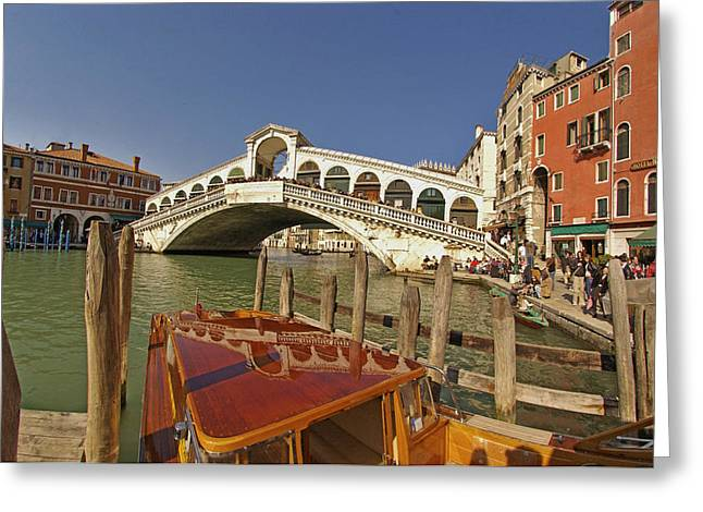 Venice Italy Ver.17 Greeting Card by Larry Mulvehill