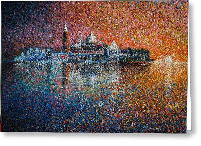 Venice Jewel Of The Adriatic Greeting Card by Les Conroy