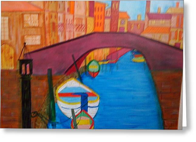 Greeting Card featuring the painting Venice by Judi Goodwin