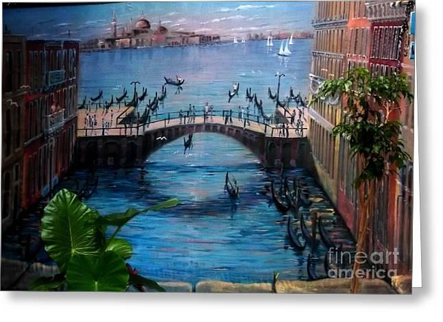 Venice Greeting Card by Kelly Awad