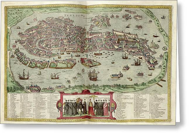 Venice Greeting Card by Library Of Congress, Geography And Map Division