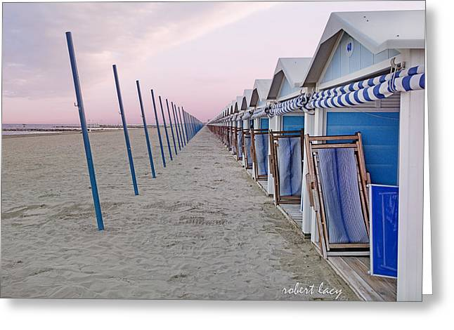 Venice Lido Greeting Card by Robert Lacy