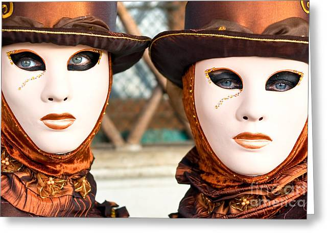 Venice Masks - Carnival. Greeting Card by Luciano Mortula