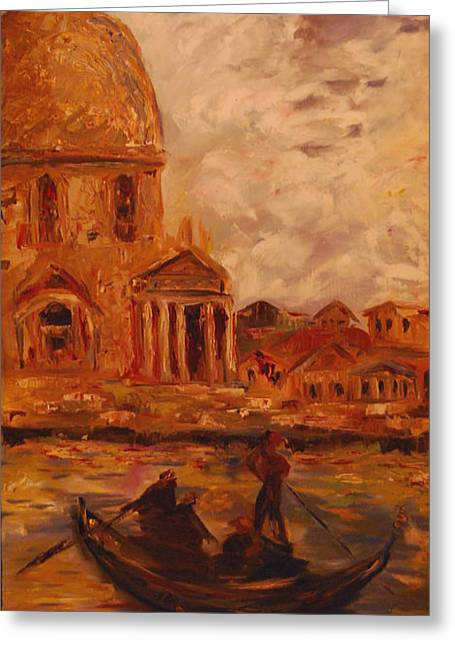 Venice Morning Greeting Card by Nancy Bradley