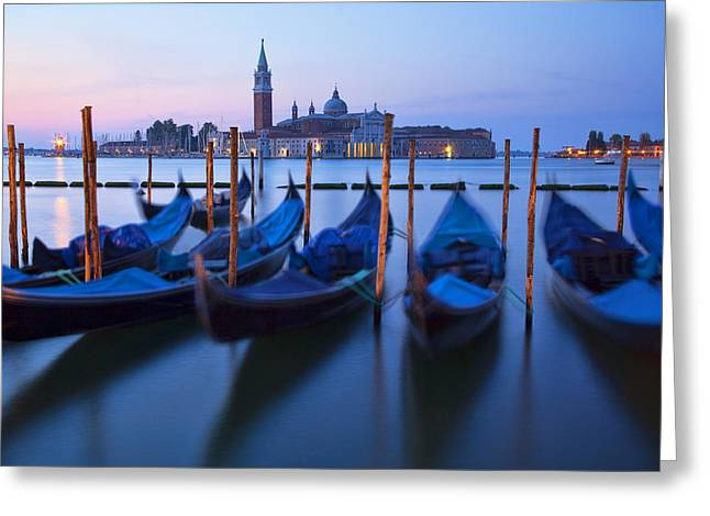 Venice Morning Greeting Card by Peggy Kahan