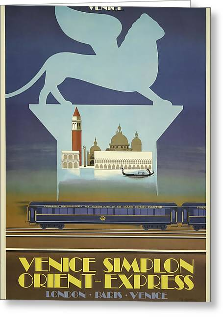 Venice Orient Express Greeting Card