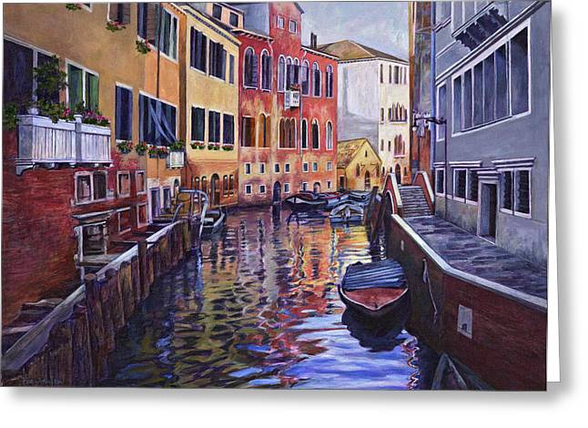 Venice Greeting Card by Douglas Simonson