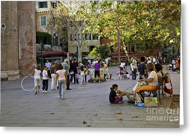 Venice Piazza In The Afternoon Greeting Card