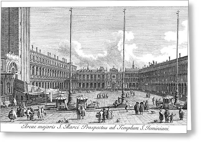 Venice Piazza San Marco Greeting Card by Granger