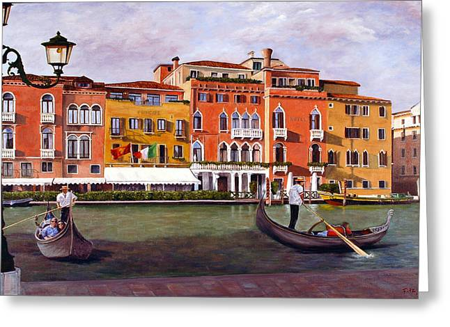 Venice Greeting Card by Rick Fitzsimons