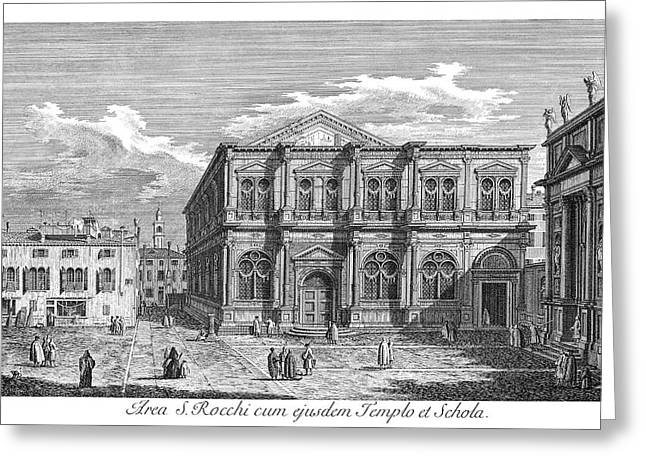 Venice San Rocco, 1735 Greeting Card by Granger