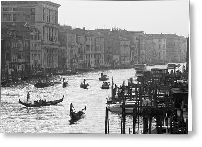 Venice Grand Canal Greeting Card by Silvia Bruno