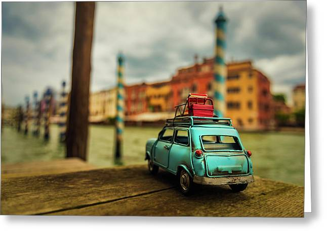 Venice Stopped Greeting Card by Luis Francisco Partida