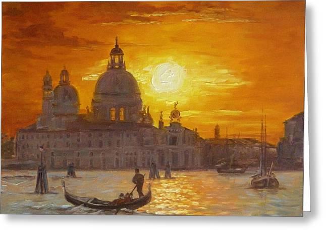Venice Sunset Painting by Irek Szelag