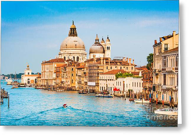 Venice Sunset Greeting Card by JR Photography