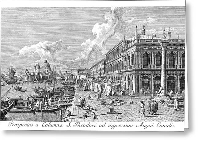 Venice The Molo, 1735 Greeting Card by Granger