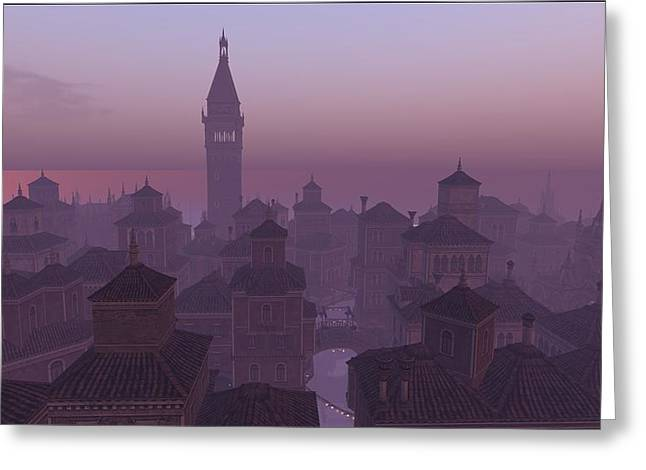 Venice Twilight Greeting Card