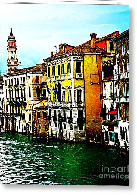 Venice - Venezia Greeting Card by Ze  Di