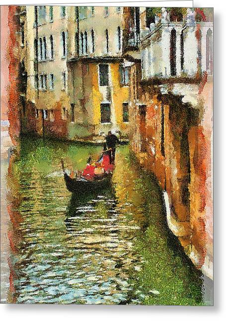 Venice View Greeting Card by Cary Shapiro