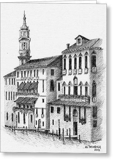 Venice Waterway Greeting Card