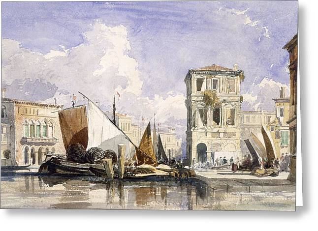 Venice Greeting Card by William James Muller