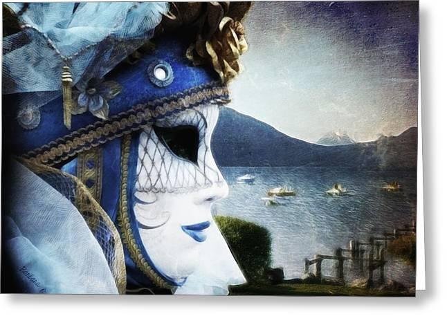 Venitian Carnival - La Dame Du Lac Greeting Card