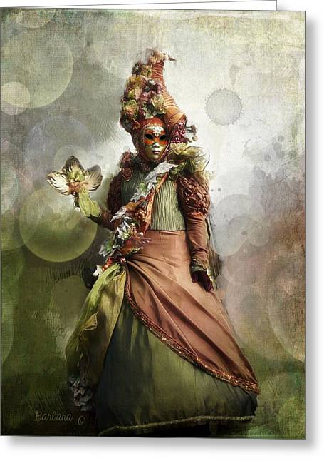 Venitian Carnival-the Fall Muse Greeting Card