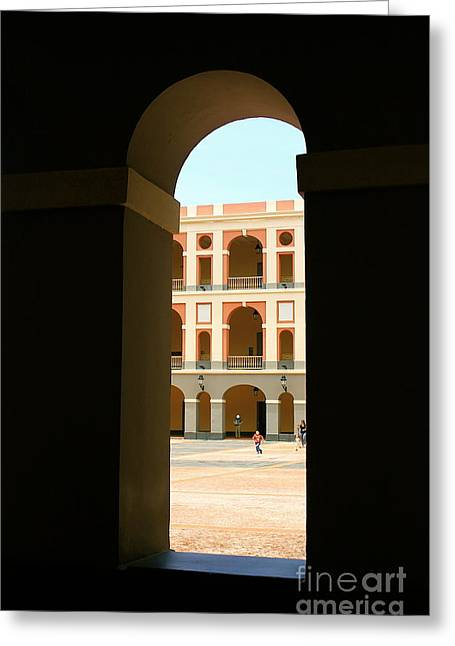 Ventana De Arco Greeting Card
