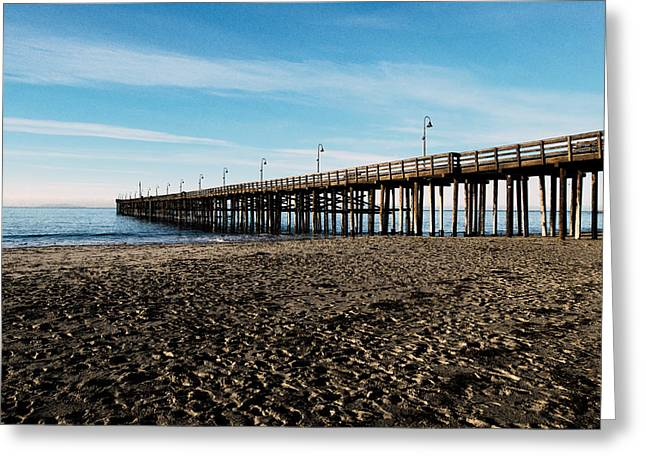 Ventura Beach Pier Greeting Card