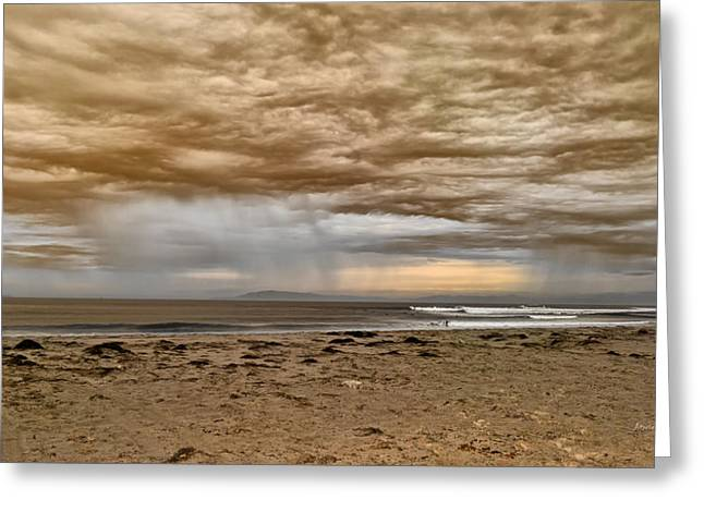 Ventura In Storm Greeting Card by Angela A Stanton