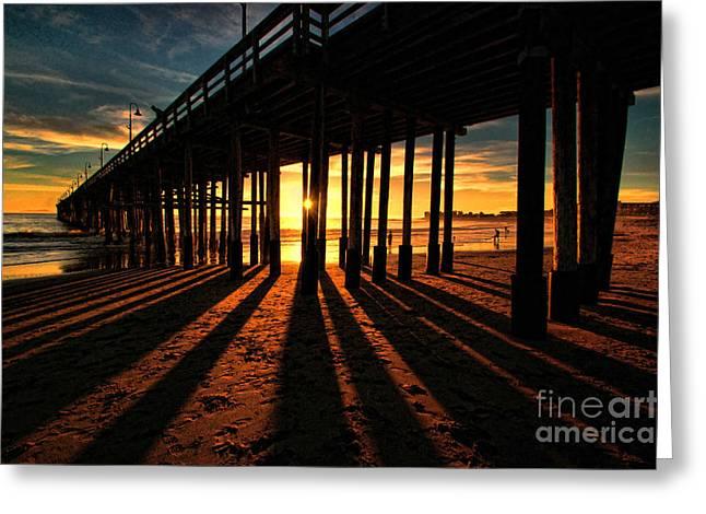 Ventura Pier At Sunset Greeting Card